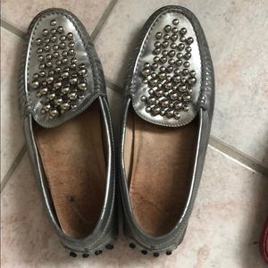 Todd's flats beaded loafers
